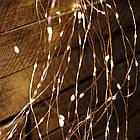 Гирлянда Конский хвост 200 LED, 10 нитей, Золотая (Желтая), проволока, от сети, 2м., фото 5