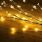 Гирлянда Конский хвост 200 LED, 10 нитей, Золотая (Желтая), проволока, от сети, 2м., фото 6