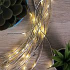 Гирлянда Конский хвост 200 LED, 10 нитей, Золотая (Желтая), проволока, от сети, 2м., фото 9