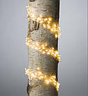Гирлянда Конский хвост 200 LED, 10 нитей, Золотая (Желтая), проволока, от сети, 2м., фото 10