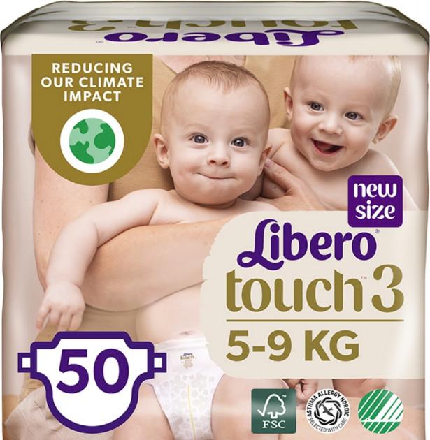 Підгузки Libero Touch 3 (4-8кг), 50шт