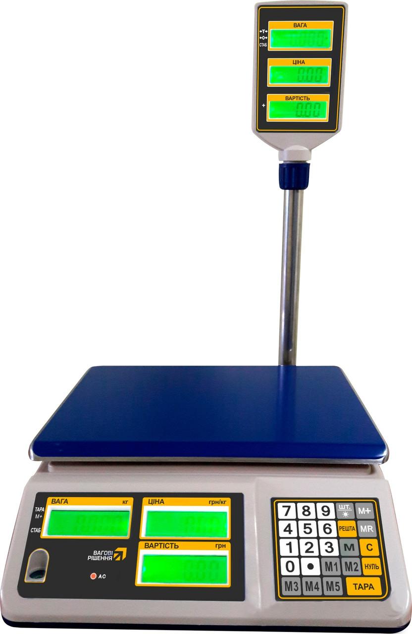 Торговые весы с поверкой РС15-Тс