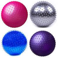 Мяч фитнес 85см, массажный, цвета в ассортименте +  насос