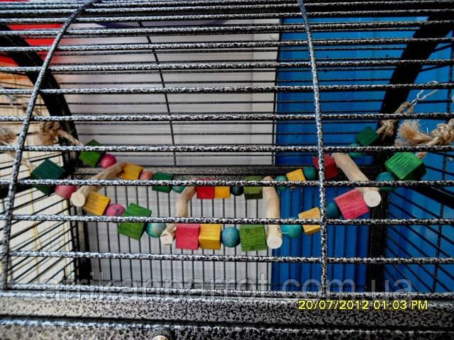 Деревянная лесенка для крупного попугая (Мостик)