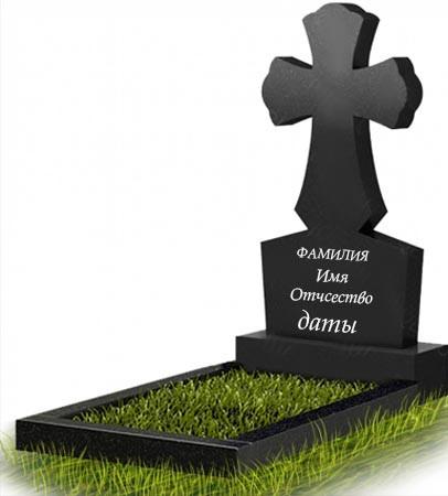 Памятник в виде креста из гранита (100 см) К-12