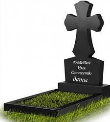 Пам'ятник у вигляді хреста з граніту (100 см) До-12