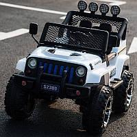 Детский электромобиль Джип «Jeep Wrangler» M 3237EBLR-1 (4WD полный привод) Белый