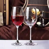 Бокалы для вина 600мл с кристаллами Сваровски  (перед заказом уточняйте наличие, цена за 1 бокал) СВАР-25, фото 1