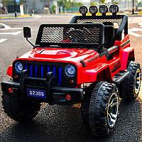 Детский электромобиль Джип «Jeep Wrangler» M 3237EBLR-3 (4WD полный привод) Красный
