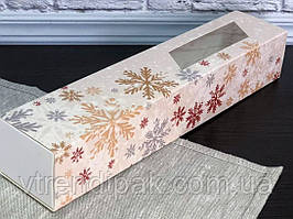 Коробка для macarons 300*60*50 Сніжинка