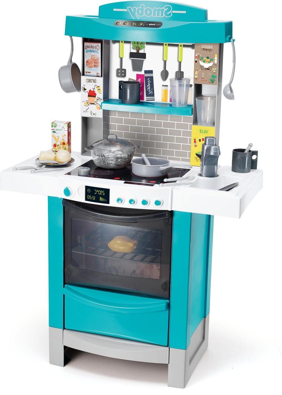 """Інтерактивна кухня """"Майстер-Шеф"""" Coocktronic Bubble (звук+світло+еф кипіння, 22 акс, блакитна) Smoby 3+ (311505)"""