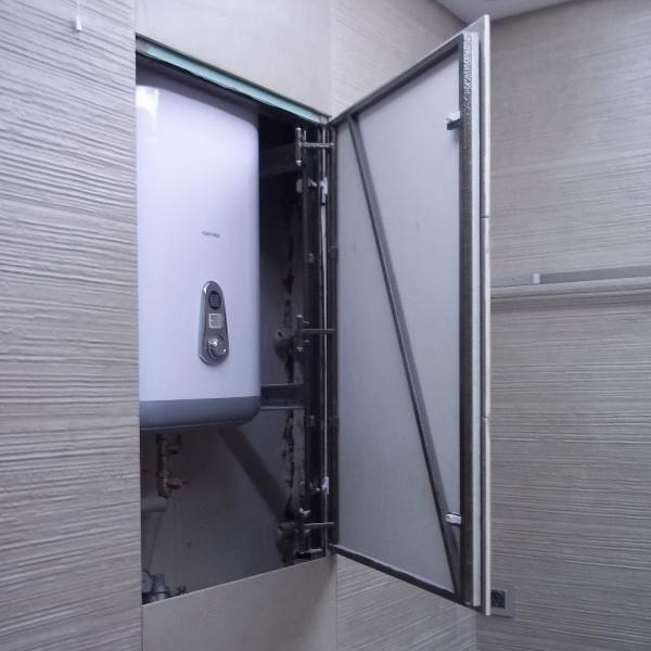 Дверка для бойлера под плитку 600х1200 (ШхВ) Нажимной
