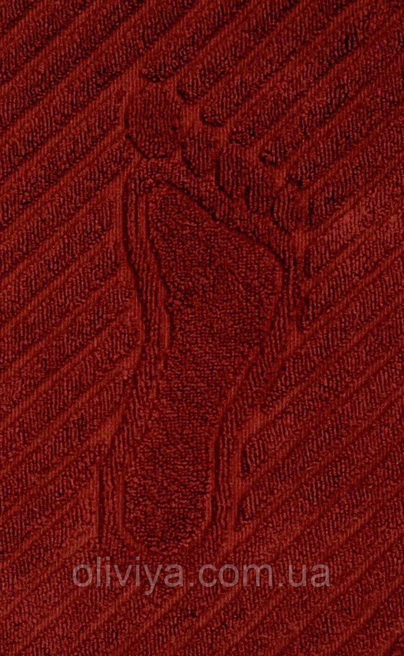 Махровое полотенце для ног кирпичное 50х70
