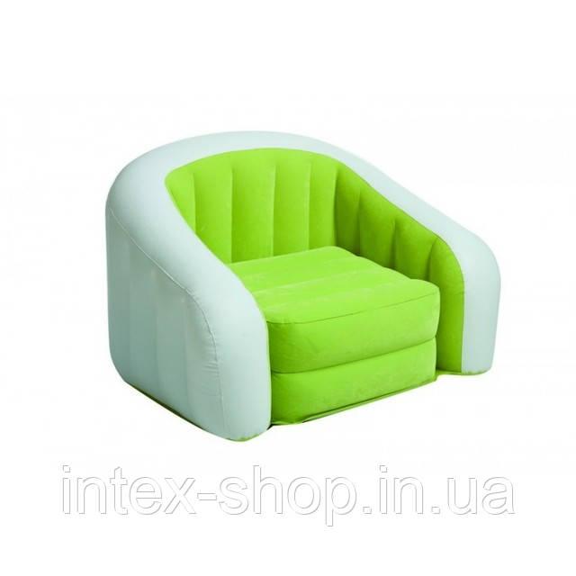 Надувное кресло Intex Cafe Club Chair 97x76x69 ИНТЕКС 68571 (Зеленый)