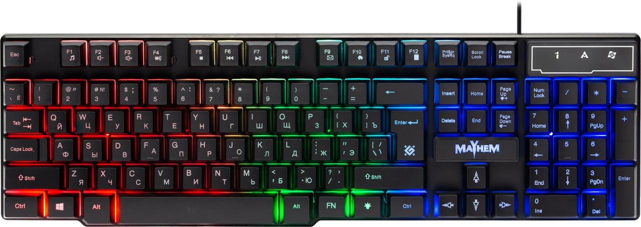 Клавиатура проводная Defender Mayhem GK-360DL USB RGB (45360)