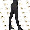 Женские утеплённые лосины черный дайвинг/плюш размер 42  до 52, фото 2