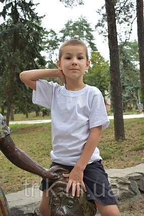 Детские белые футболки для мальчиков бейка широкая, фото 2