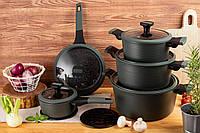 Набор посуды из 12 предметов Edenberg с мраморным покрытием (EB-5633)