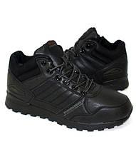 Мужские зимние ботинки черного цвета на меху, фото 1