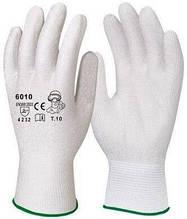 Перчатки рабочие Dermagrip нейлоновые белые полеуретан №10