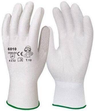 Перчатки рабочие Dermagrip нейлоновые белые полеуретан №10, фото 2