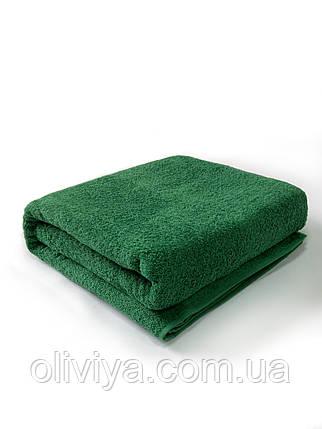 Полотенце банное и пляжное темно-зеленое, фото 2
