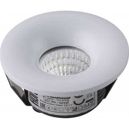 Светодиодный встраиваемый светильник 3W BIANCA Horoz Electric, фото 2