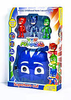Маска синя Герої в масках + фігурки героїв, W8031