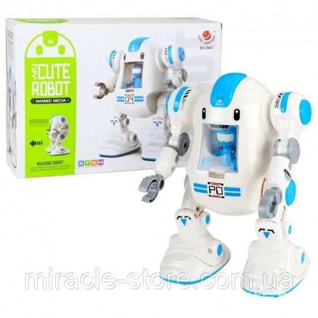 Робот конструктор інтерактивний на батарейках Diy Cute Robot