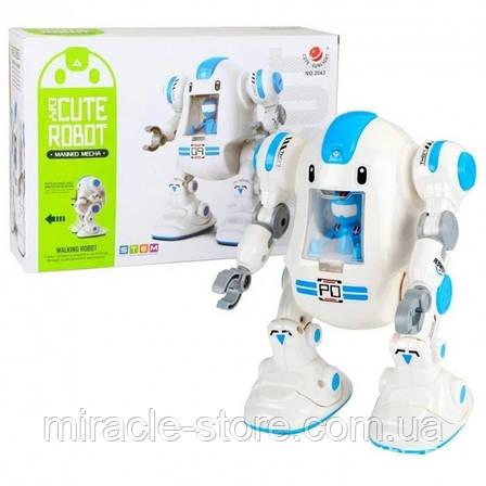 Робот конструктор інтерактивний на батарейках Diy Cute Robot, фото 2