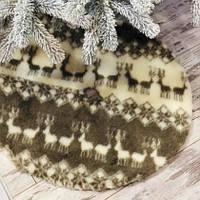 Хит продаж! Юбка для Елки с Оленями, диаметр 75 см, коврик под елку, искусственный мех, на липучках