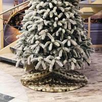 Хит продаж! Юбка большая для Елки с Оленями, диаметр 130 см, коврик под елку, искусственный мех, на липучках