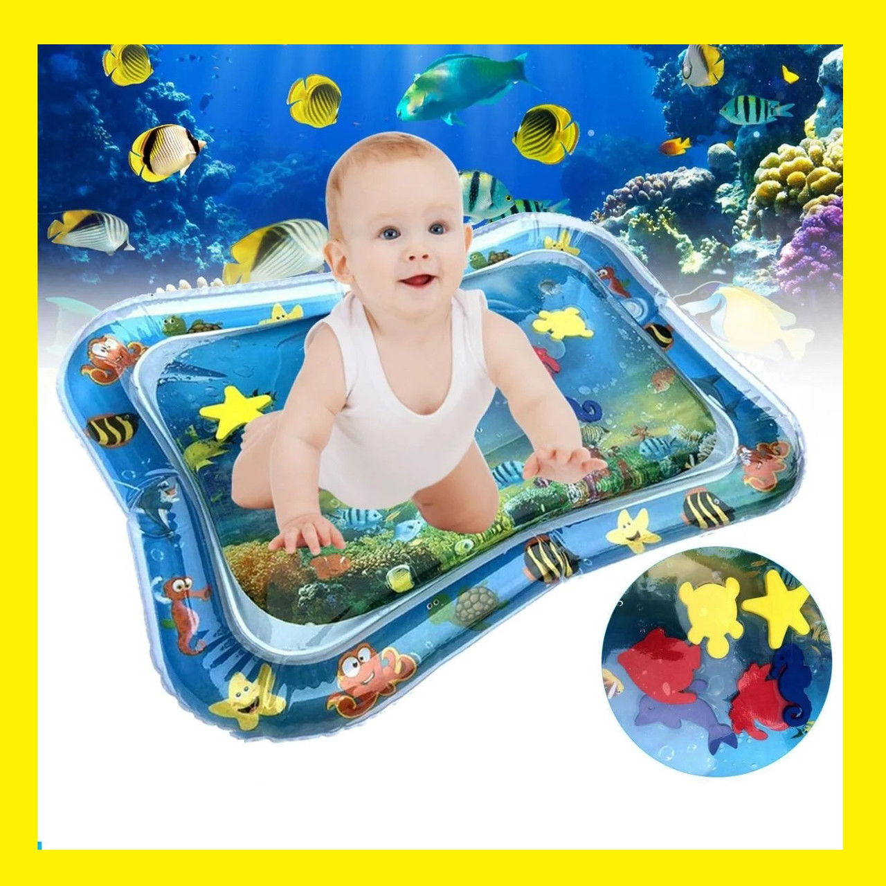 Водяной коврик с рыбками  Inflatable water play mat