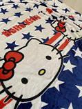 """Плед-покривало з мікрофібри """"Hello Kitty America"""" (160х210), фото 3"""