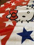 """Плед-покривало з мікрофібри """"Hello Kitty America"""" (160х210), фото 5"""