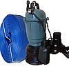 Фекальный насос чугунный корпус с измельчителем Wisla WQD 1,1 + шланг 25м + трос силикон+ хомут