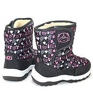 Дутые детские ботиночки для девочки на липучке, фото 1
