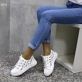 Женские кеды белые 4111