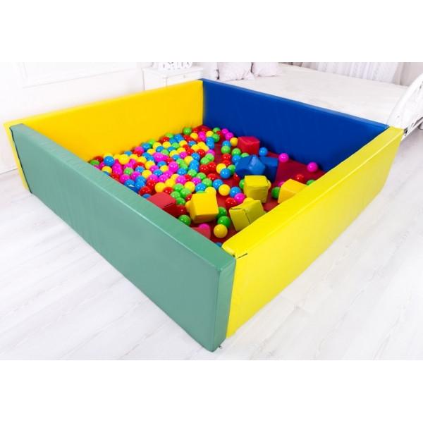 Сухой бассейн с матом 110-110-40