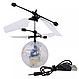 Летающий шар мяч вертолёт светящийся сенсор Flying Ball Air led sensor sphere Original size от руки, фото 2