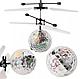 Летающий шар мяч вертолёт светящийся сенсор Flying Ball Air led sensor sphere Original size от руки, фото 7