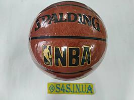 М'яч баскетбольний PU №7 SPALD BA-5471 NBA GOLD (PU, бутил, оранжевий)