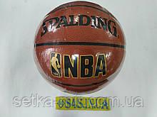 Мяч баскетбольный PU SPALDING BA-5471 NBA GOLD (PU, бутил, оранжевый, полоса,размер 7)