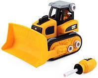 Машинка конструктор Cat Construction Build Your Own Junior Crew Bulldozer Building Set  бульдозер, фото 1