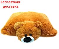 Детская подушка-игрушка Мишка 45 см медовый