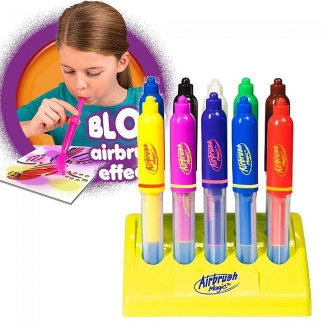 Воздушные фломастеры Airbrush Magic Pens E 018 с подставкой | аэрограф