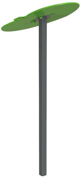 Навес одинарный Листик дерево металл