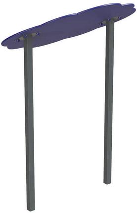 Навіс подвійний Хмаринка 15 метал, фото 2