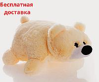 Детская подушка-игрушка Мишка 55 см персик