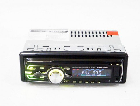 Автомагнітола 1DIN MP3-3228D RGB/Знімна   Автомобільна магнітола   RGB панель + пульт управління
